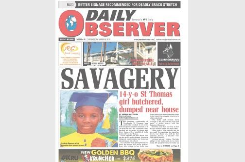 Jamaica Observer Cover
